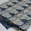 Tissu au mètre voile de coton motif visage fond bleu indigo imprimé block print