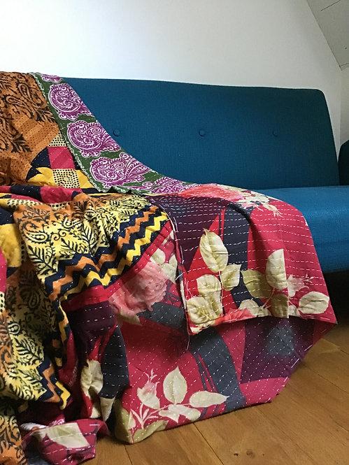 vintage bedthrow/plaid vintage/tissu inde/tissu indien/tissus indiens/plaid caravance:le monde sauvage plaids/plaids indiens