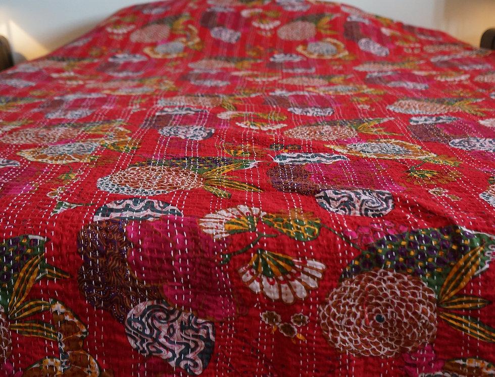couvre lit fleur/bohème chic/couvre lit indien/jamini tissus/sensitive tissus/linge de maison/flowers bedcover/bedspread