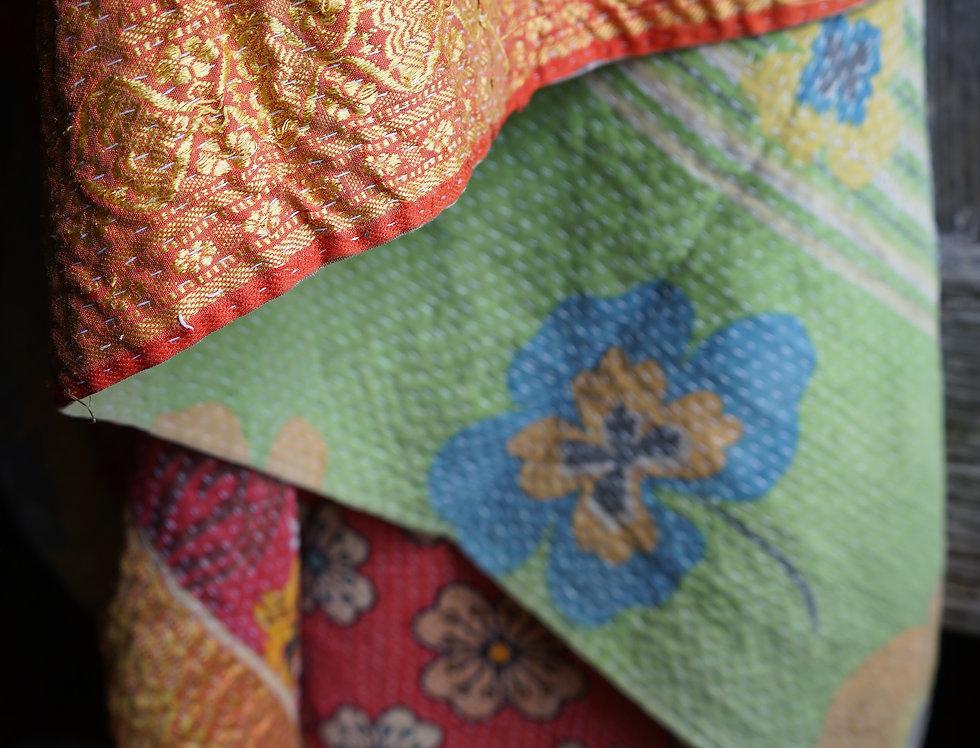 Plaid/vintage/bohème chic/couvre lit/tissu-vintage/Paris/sensitive/tissus/linge/shibori/plaid/bedcover/bedspread/Figeac