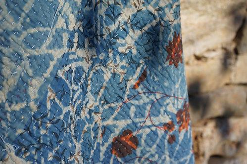 Plaid vintage/bohème chic/couvre lit caravane/tissus Paris/Jamini couvre lit/shibori plaid/indian bedcover/indian bedspread/