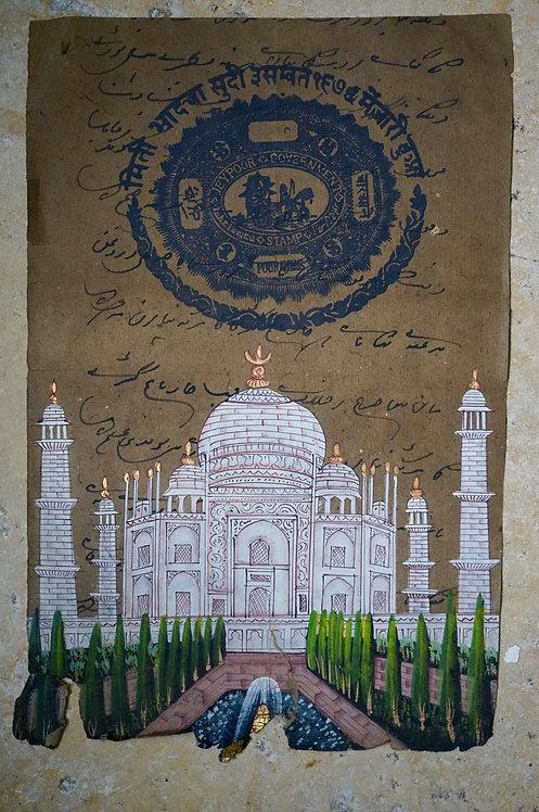 miniature indienne/miniature Taj Mahal/miniatures peintes indiennes/meubles indiens/objets Inde/art indien/miniature jaipur/