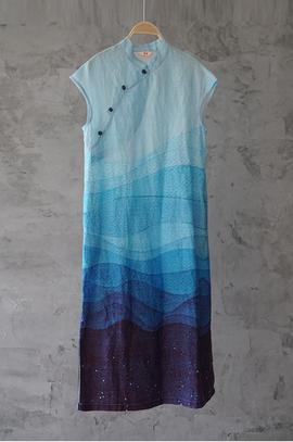 Robe dégradés de bleus
