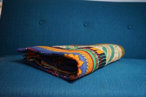 quilt de hay/bouti ancien Inde/couvre lit vintage/bout de lit/ jeté de lit courtepointe/quilted bed throw/plaid vintage/plaid