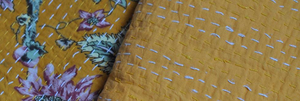 couvre lit courtepointe/couvre lit indien uni/couvre lit inde/couvre lit indien/indian quilt plain color/india quilt/bedcover