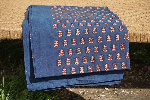 nappe rouge/tissu batik/nappe batik/tissus Paris/nappe bleu coton/shibori plaid/indian bedcover/indian bedspread/
