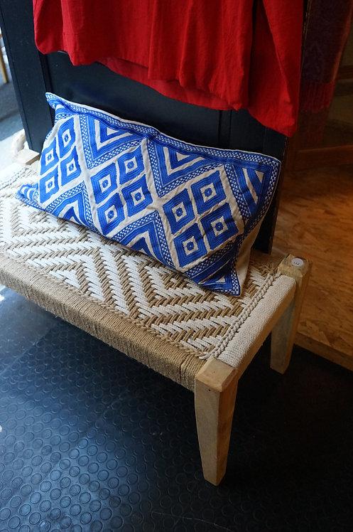 banc charpoy naturel et blanc/banc indien/charpoy couleur/charpoy bench/daybed/lit indien/banc tressé/lit tressé/Toulouse