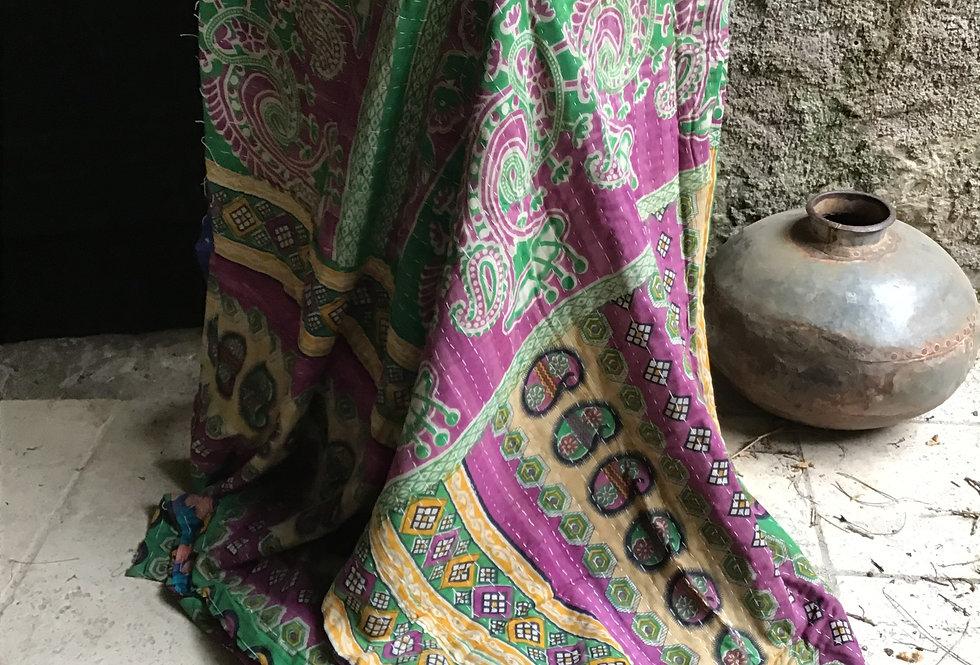 Plaid ou jeté de lit vintage 208C bohème chic