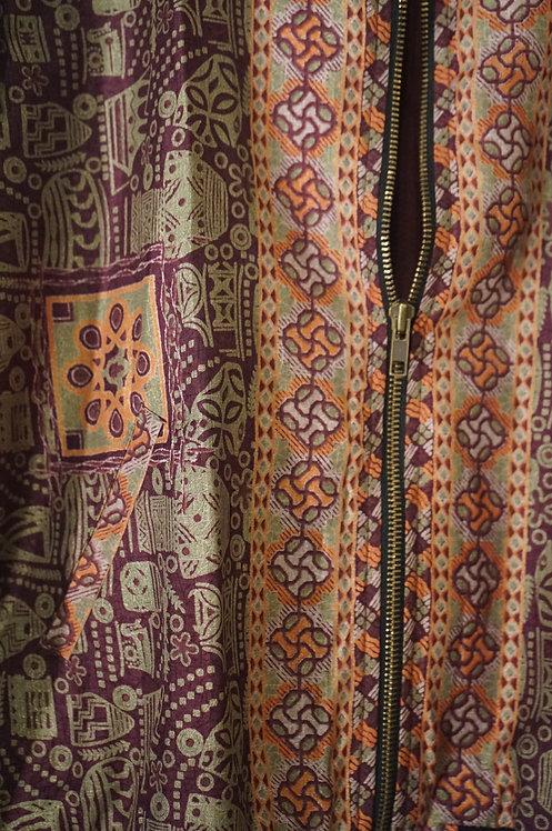 Bomber en soie blouson d'été ou de printemps collection caravane 2017 prêt a porter femme jupe robe veste mode bohème