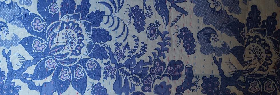 couvre lit figeac/couvre lit fleurs bordeaux/linge de maison Cahors/tissu fleurs/printemps/shop/cushions/déco