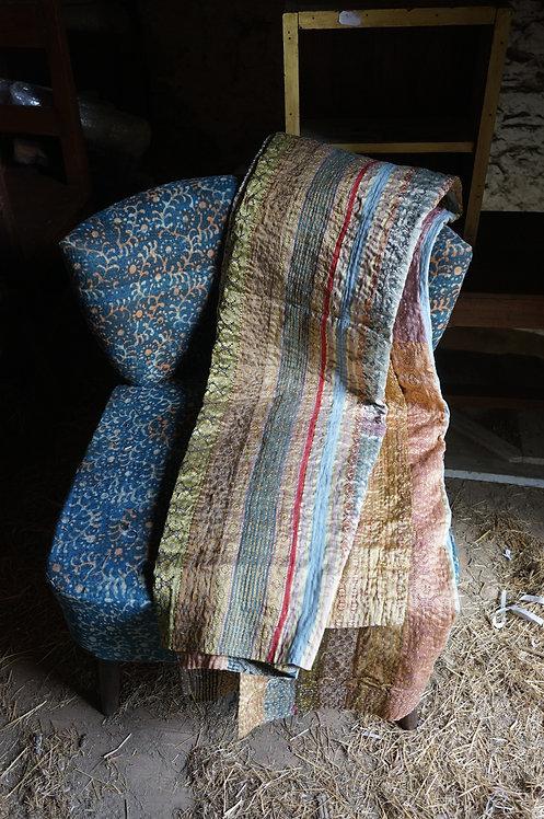 Plaid/vintage/bohème chic/couvre lit/caravane/collection/Paris/sensitive/tissus/linge/maison/plaid/bedcover/bedspread/Figeac