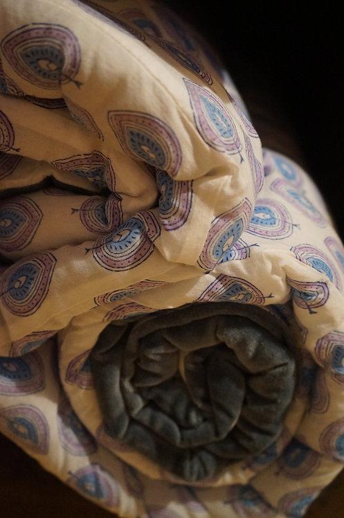edredon coton/ édredon velours/couette coton/tissu Figeac/Cahors/delamaison/tissus Lot/La maison générale/ plaid/