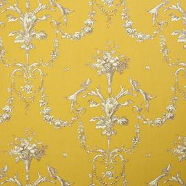 Papier peint jaune impression toile de Joy