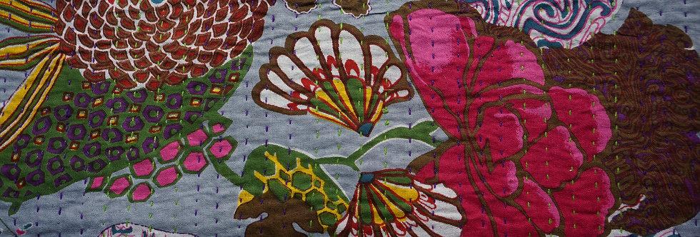 Bedspreads Heal's/couvre lit inde fleur/jamini tissus/plaid vintage/tissus oiseaux/magasin deco Figeac/couvre lit fleurs/Lot