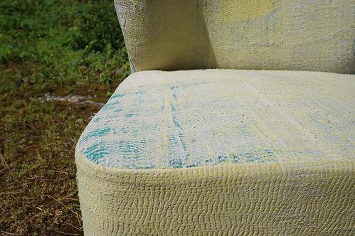 fauteuil/fauteuils/vintage/coton/jaune/salon/meuble/inde/banquette/banc/tissu/Lot/design/Figeac/Paris/montpellier/grenoble/