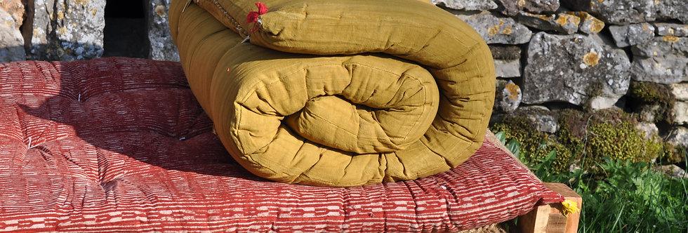 Matelas 180X70 charpoy jaune/matelas relaxation/matelas de sieste