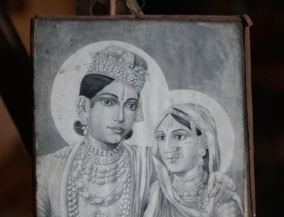 Portrait de Maharaja et sa Maharani vendu