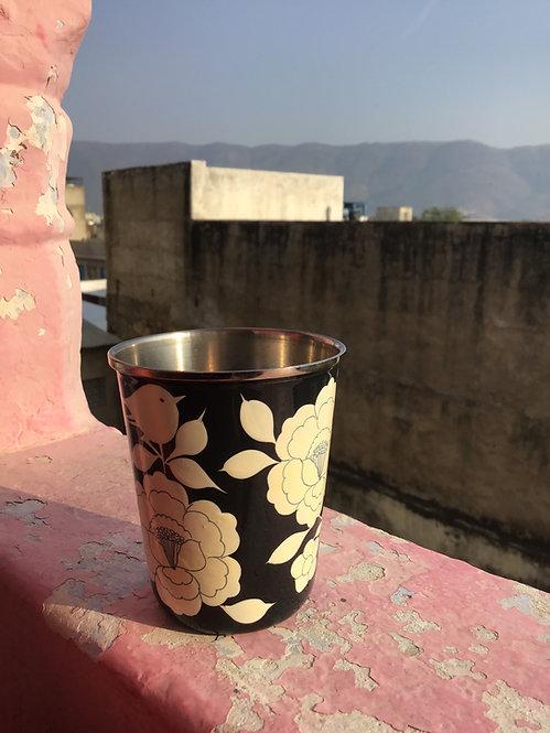 Mug peint cachemire/tasse thé cachemire/vaisselle indienne/mazagran Inde/mug indienne/vaisselle russe/tasse cachemire/inde