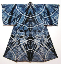 shibori japon kimono elle décoration