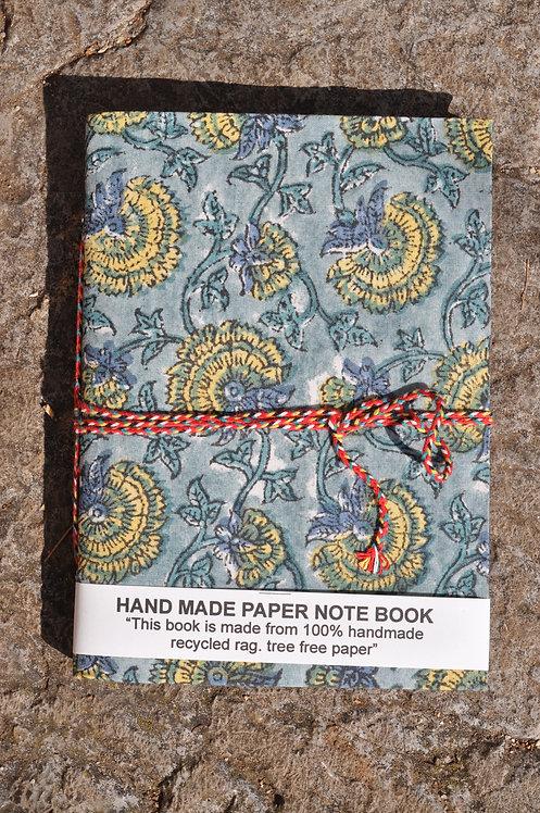 carnet papier recyclé/carnet de route/papier recyclé indien/notebook tissu/recycle paper notebook/indian notebook/carnet inde