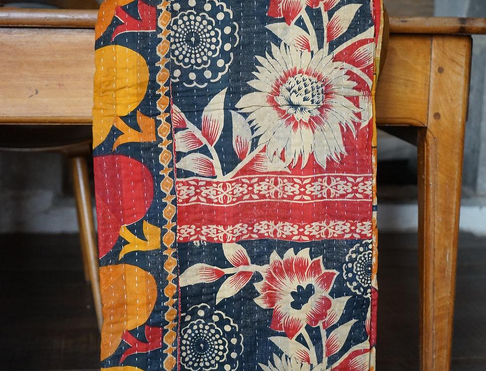 tissu vintage/couvre lit ethnic chic/couvre lit indien/sensitive tissus/linge-de-maison vintage/bedcover/bedspread/Figeac