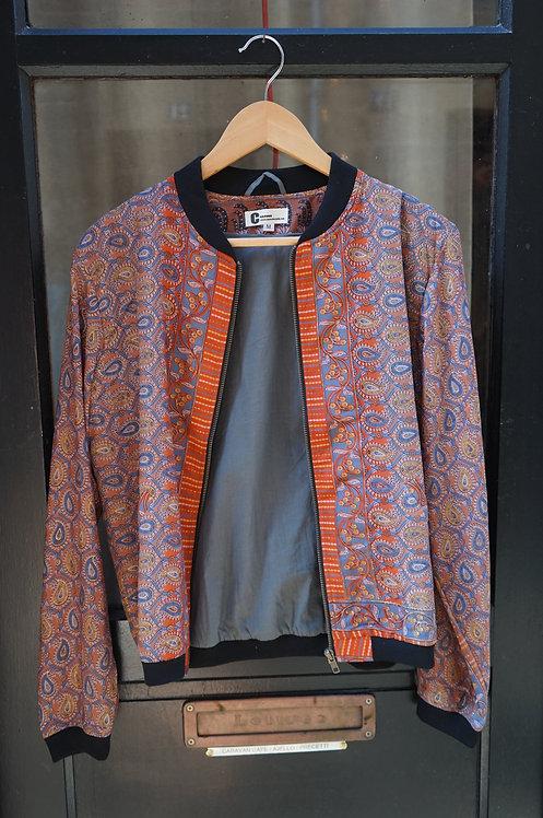 bomber sari/veste inde/prêt à porter inde/marque vêtement indienne/veste automne/bomber printemps/soie/anoki/fabindia/cahors/