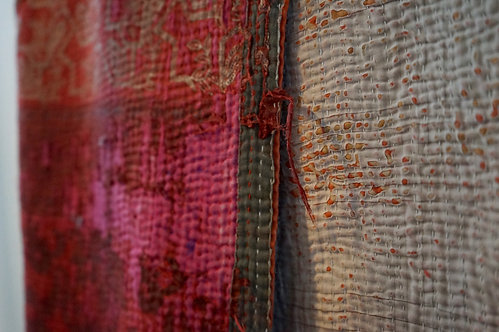 bed cover vintage/tissu Lot/plaid vintage/bedspread/shibori/Figeac/Heal's/Frette/London/Paris/Sensitive/Monde/Sauvage/deco