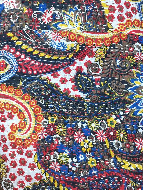 Couvre lit (bedcover) motif fond noir