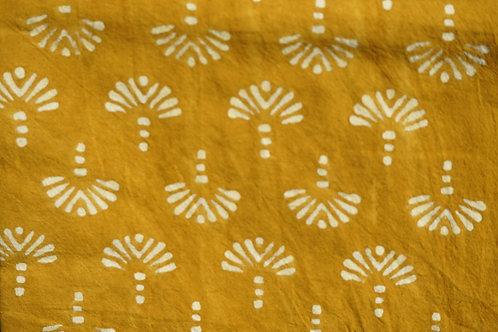 nappe bleue/tissu batik/nappe batik/tissus Paris/nappe bleu coton/shibori plaid/indian bedcover/indian bedspread/