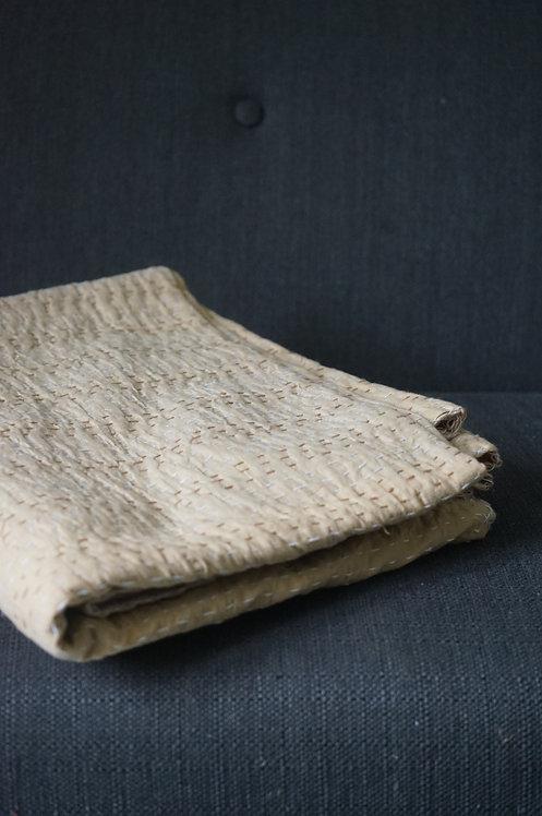 couvre lit beige petit lit/bouti beige/bouti oiseaux/couvre lit indien/orange quilt bed cover/orange bedcover/tissus