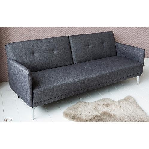 canapé/convertible/gris/foncé/3 places/confort/lit/salon/meubles/Figeac/Paris/design/scandinave/vintage/retro/banquette/déco