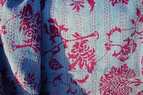 Plaid/linge/maison/tissus/couvre lit/Paris/Figeac/Toulouse/Lot/Cahors/Aurillac/Heals/shop/London/boho/Inde/broderie/vintage/