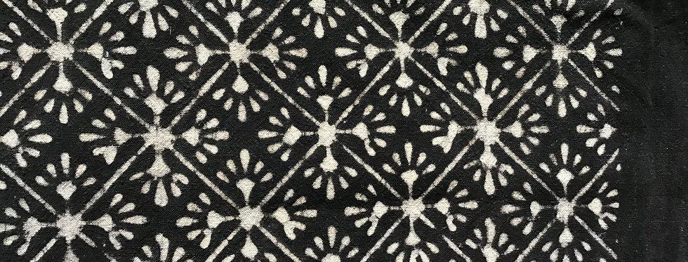 Matelas 180X80 charpoy/motif étoiles noir et blanc/matelas motif/matelas noir