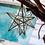 Thumbnail: LANTERNE ETOILE, en verre et maillechort, fait main