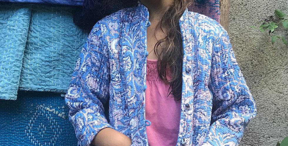 veste indienne/veste traditionnelle indienne surpiquée/veste inde/veste surpiqée enfant/veste réversible