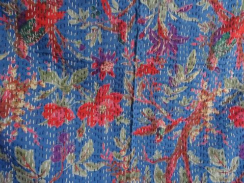 couvre lit oiseaux bleu bed cover plaid linge de maison collection caravane 2017