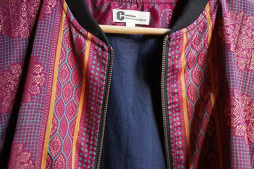Bomber/soie/sari/blouson/été/printemps/collection/fabindia/prêt a porter femme/jupe/robe/sensitive et fils/Inde veste/mode