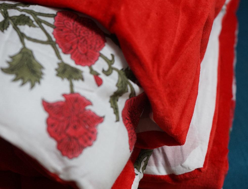 edredon coton/edredon velours/edredon coton velours/édredon la maison générale/ édredon caravane/couvre-lit vélours