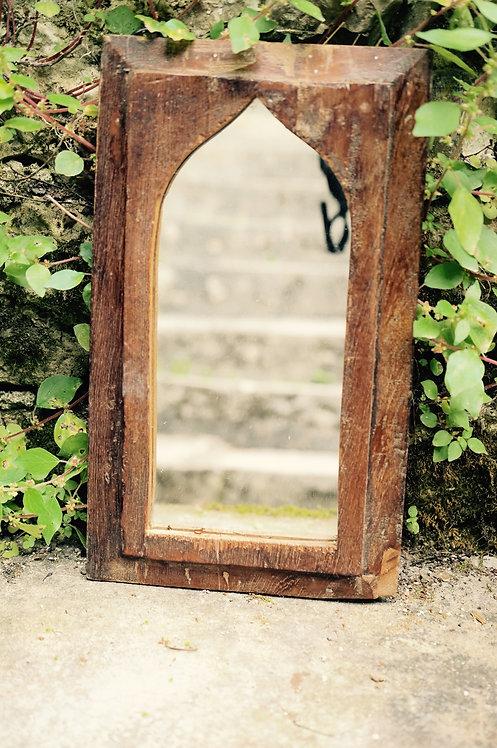 Miroir indien/style oriental/miroir bois arabisant/bois recyclé