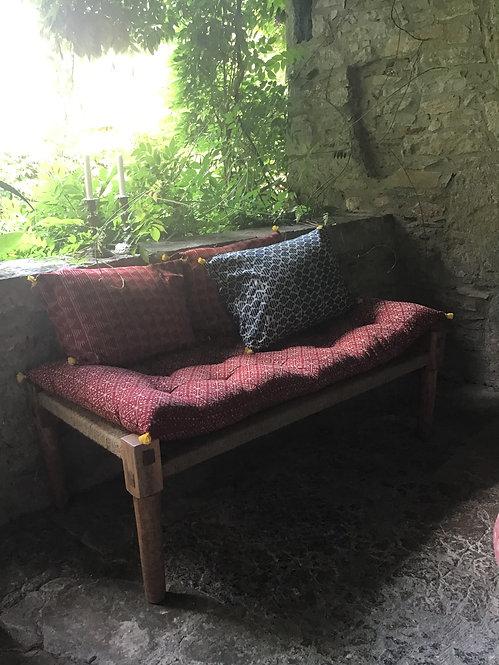 matelas charpoy/matelas motif/matelas lit indien/futon rouge/matelas détente/matelas souple/matelas d appoint/matelas imprimé
