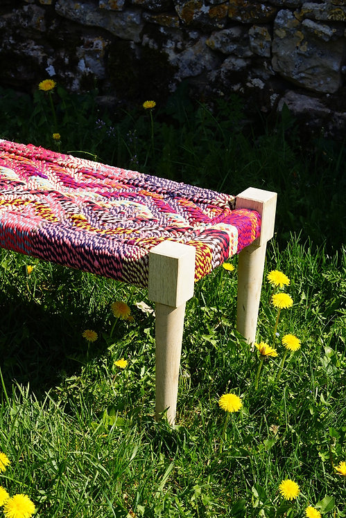 meuble indien/indian bed/charpoy multicolore/charpoi/charpoy couleur/indian daybed/braided bed/braided indian bed/lit inde