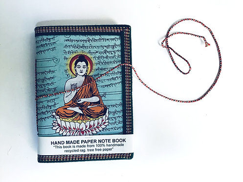 carnet dessin miniature/carnet couverture dessinée/carnet indien/papier recyclé/carnet inde/indian notebook
