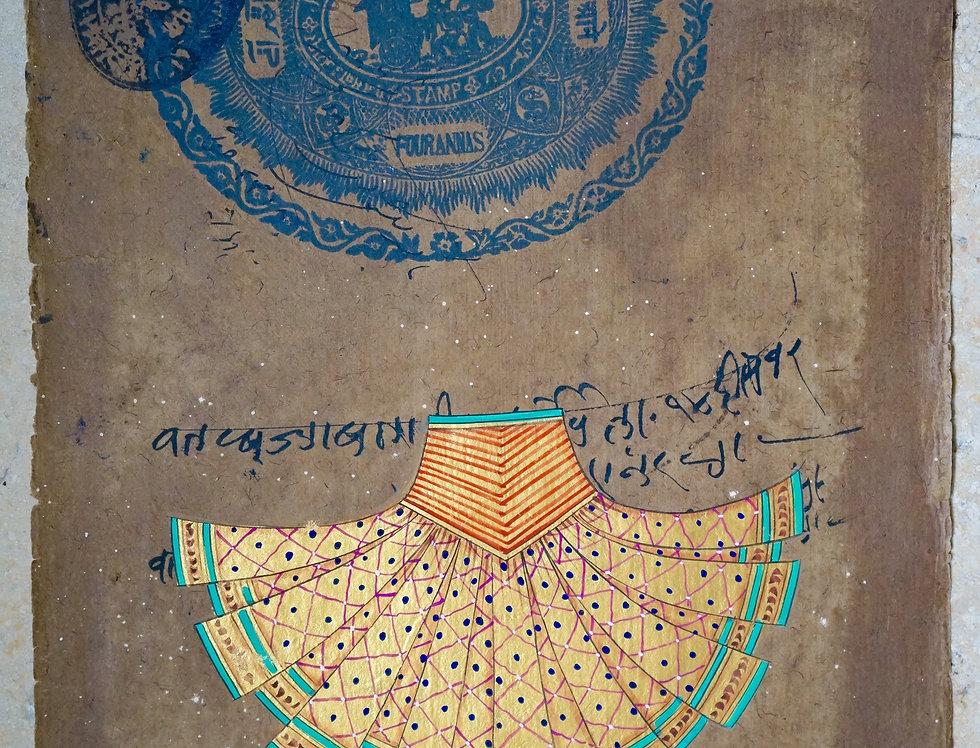 miniature indienne/jupe femme Inde/miniatures peintes indiennes/meubles indiens/artisanat Inde/art indien/miniature Inde