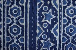 bed cover, couvre lit bleu indigo