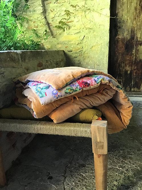 Édredon coton velours/velvet quilt/velvet bed cover/edredon réversible/édredon velours/édredon chaud/velvet quilt/