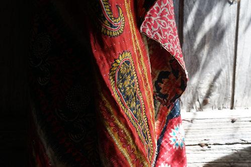 Plaid/vintage/bohème chic/couvre lit/Paris/sensitive/tissus-vintage/linge-de-maison/plaid/bedcover/bedspread/Figeac