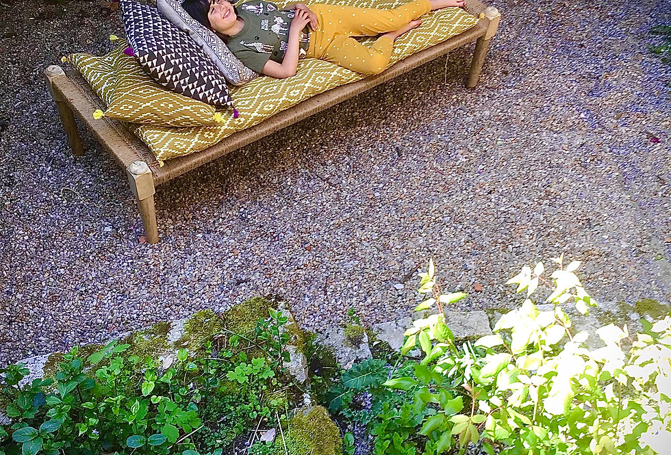 matelas juane/futon jaune motifs/futon jaune/matelas charpoy/matelas motifs handblock/matelas motifs jaune/matelas motifs/lit