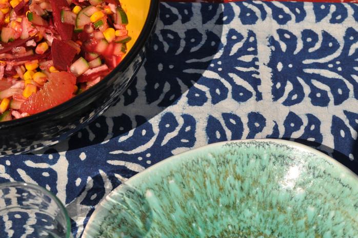 Motif ananas bleu...