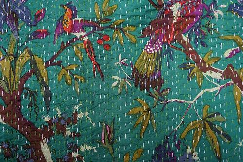 Plaid/vintage/bobo-chic/couvre lit/caravane/collection/Paris/Jamini/tissus/linge/shibori/plaid/bedcover/bedspread/Figeac