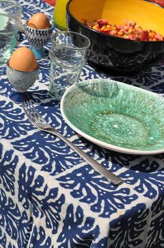 Nappe bleue indigo
